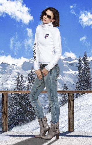 Nebulus Sous-pull chaud pour femme Blanc - Blanc