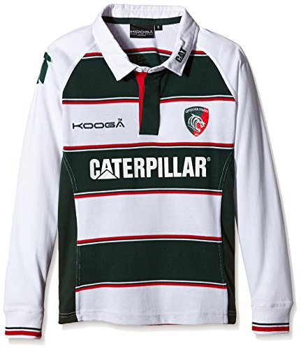 Leicester Tigers 2015/16 Home Ladies Classic L/S Rugby Shirt - size 8 (Rugby Home Damen Shirt)