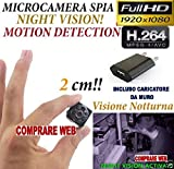 MICROSPIA SQ8 Spy Camera Spia FULL HD MOTION DETECTION TELECAMERA NASCOSTA CW150