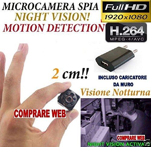Microspia sq8 spy camera spia full hd motion detection telecamera nascosta cw150