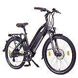 """NCM Milano 48V, 26"""" Bicicleta eléctrica de Trekking, e-bike, 250W Motor Das-Kit trasero, 13Ah 624Wh, batería de ion-litio con células de alta potencia, frenos de disco mecánicos, 7 Velocidades (Negro 26"""")"""