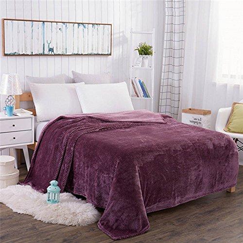 asdomo Luxus Fleece-Flanell Thermal Decken Baby Bett, Couch Sofa Plüsch Samt Große Weiche überwürfen für Twin, Full, Queen und King Größe Bett oder Sofa, Polyester, weinrot, 120*200cm (Thermal-baby-decke)