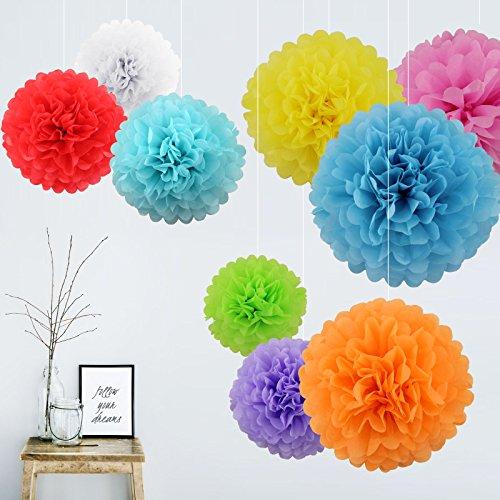 9pcs-set-8-tissue-paper-pom-poms-hanging-flower-balls-wedding-party-bridal-shower-nursery-decoration