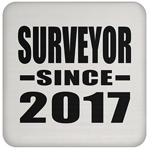 Surveyor seit 2017–Untersetzer, Untersetzer, beste Geschenk für Geburtstag, Hochzeit, Jahrestag, Neues Jahr, Valentinstag, Ostern, Muttertag/Vatertag