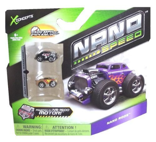 Nano Speed Nano Rods Cars- 2 pack by Spin Master