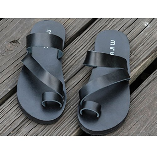 Zhuhaitf Haute qualité Summer Holiday Casual Shoes 3 Colors Mens Beach Sandals Flip Flops Black