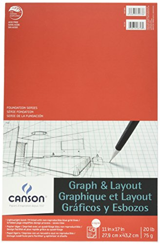 Canson Foundation Serie Graph & Layout Pad, 0, 11