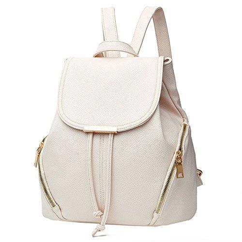 TianWlio Handtasche Damen Mode Schule Leder Rucksack Schultertasche Mini Rucksack für Frauen & Mädchen Weiß