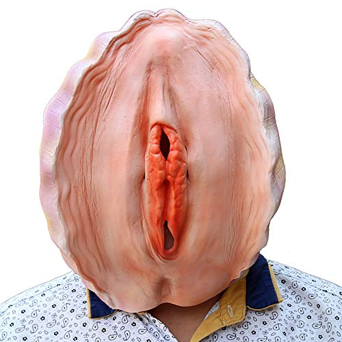 NAN® Halloween Latex Maske Shell Strap Funny Stuff, Maske Wear Mask, Music Festival Helm, Kleidung Maske, Super Rubber Latex Maske Für Halloween Party