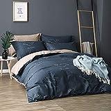 JANRON Baumwolle Bettwäsche geblümte Bettbezug Flauschige Bettbezüge mit 100% Weiche und Angenehme Mikrofaser Schlafkomfort - Bettbezug155x215cm