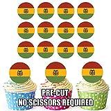 Bolivien Flagge–24essbare Cupcake-Dekoration/Geburtstags-Dekoration, leicht, Precut Kreise
