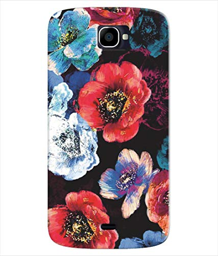 Inktree® Printed Designer Silicon Back Case Cover for Xolo Q1000 Opus - Floral Pattern Design