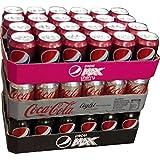 Pepsi Max Cherry, Coca Cola Light & Pepsi Max je 24 x 0,33l Dose XXL-Paket (72 Dosen gesamt)