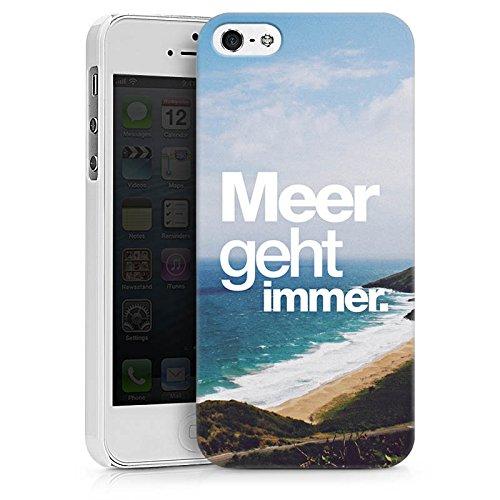 Apple iPhone X Silikon Hülle Case Schutzhülle Meer Sommer Sprüche Hard Case weiß