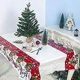 Keepwin Mantel Rectangular Impermeable Mantel de Mesa Mantel para Mesa Patrón de Navidad Lavable Antimanchas Lavable Decoración de Hogar (A)