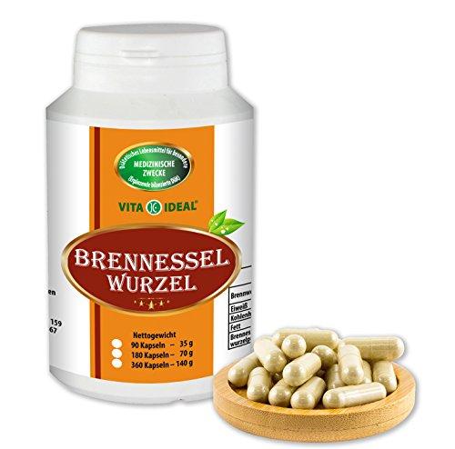 Brennessel Wurzel 360 Kapseln, je 290 mg rein natürliches Pulver, ohne Zusatzstoffe -