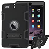 korecase iPad mini Cover Silikon iPad mini 2 Fall stoßabsorbierenden Hybrid Triple Layer Armor Defender Full Body Schutz stoßfest Fall für iPad mini 1 2 3 schwarz schwarz
