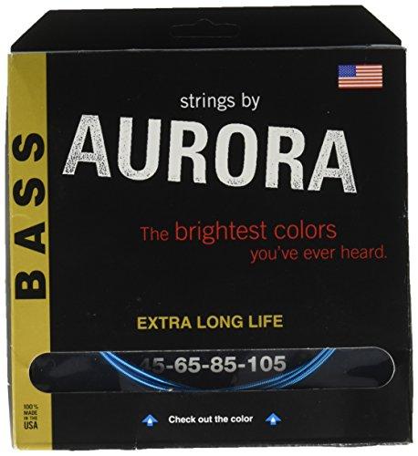 Premium Farbige Bass Gitarre Saiten, aqua, 45-105 ()