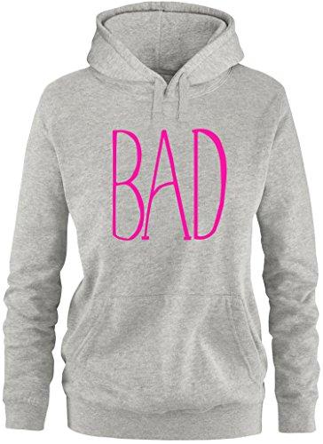 EZYshirt® BAD Damen Hoodie Grau/Pink