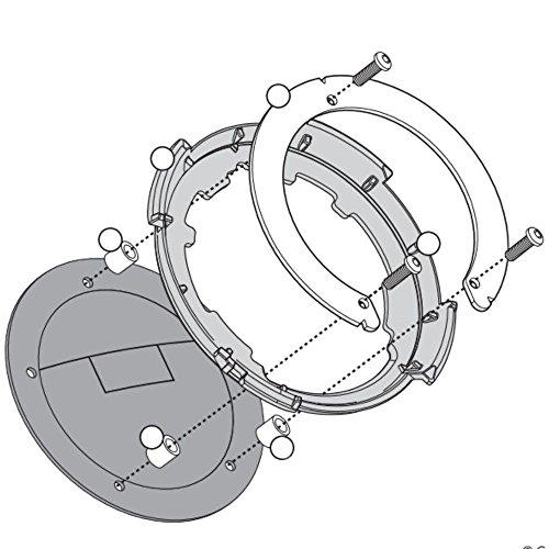 Imagen de givi bf18 fijación lock  de depósito solo para tapa depósito con 5 tornillos