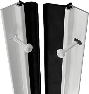 Heavy Duty Aluminium White Brush Around Door Seal Draught ...