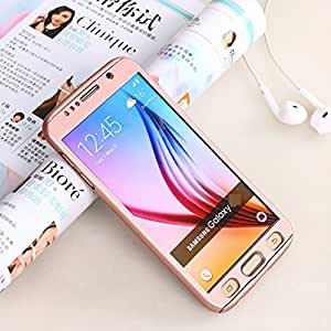 G M Brothers *360 DEGREE FULL BODY PROTECTION* Front + Back Cover Case with Tempered Glass For SAMSUNG GALAXY A5 2016 (Rose Gold)