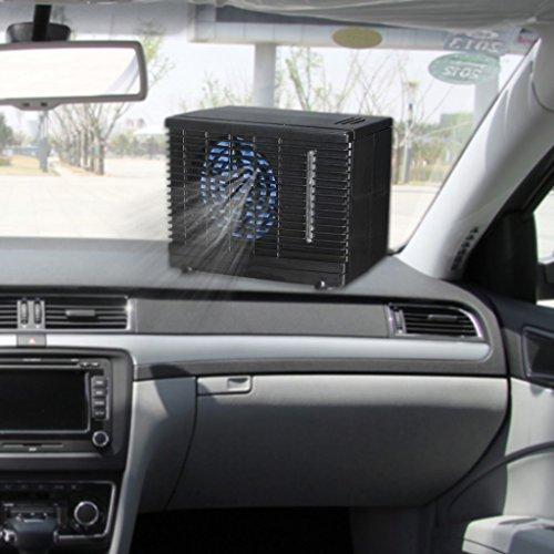 ecmqs ajustable 12V Auto Mini portátil ventilador de coche camión aire acondicionado Auto ventana ventilación ventilador enfriador