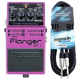 Boss BF-3 Flanger + keepdrum Gitarren-Kabel 3m