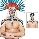 Flüssiges Latex Blau Flüssiglatex Karneval 56 ml Latexfarbe Schlumpf Schminke Karneval Makeup Zubehör Halloween Indianer Kostüm Zubehör