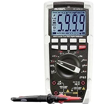 Voltcraft Vc 450 E Hand Multimeter Digital Strahlwassergeschützt Ip65 Cat Iii 1000 V Cat Iv 600 V Anzeige Counts Gewerbe Industrie Wissenschaft