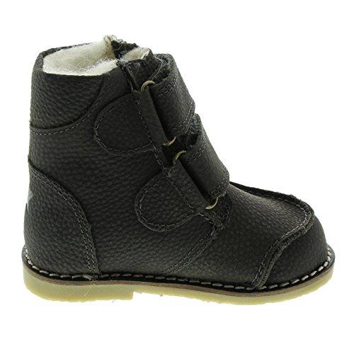 EnFant Unisex Baby und Kinder Stiefel, Leder, Boots Velcro, 815149 Grau