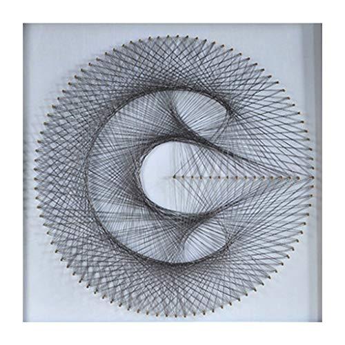 perfk String Art Kit Starter String Kunst Kit Fadenkunst Schnurkunst für Kinder und Erwachsene - Geometrische Figur