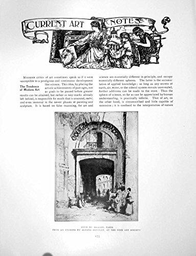 Stampi il Castello D'Amboise di Notes Cour Du Dragon Parigi di Arte 4 Pagine 1913 175Q135 - Castello Di Amboise