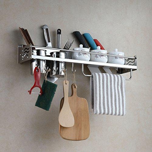 ERIDANUS Porta Utensili da Cucina Parete in Acciaio Inox, Mensole Cucina da Muro, Portacoltelli per Tenere Coltelli, Spezie e Altri Utensili da Cucina