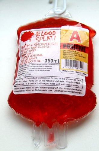 Doccia gel di sangue nella borsa donazione