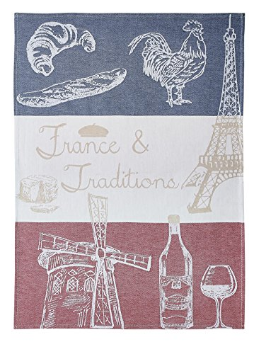 Coucke - Spül- und Geschirrtuch 'France et Traditions' - Jacquard (75 x 50 x 0,3 cm)