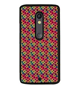 Fuson Premium 2D Back Case Cover Patterened boxes With Multi Background Degined For Motoroal Moto X Play