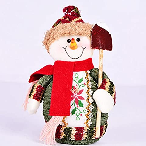 UEETEK Schneemann Tisch Dekorationen Herzstück Weihnachtsschmuck stehend Dekor für (Weihnachtsfeier Tischdekoration)