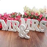 iShine Mr & Mrs Holzbuchstaben Wörter Hochzeit Tischdeko Hochzeitsgeschenk Holz Buchstaben Dekoration