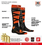 X-Socks Control 4.0, Calze Invernali da Sci Unisex - Adulto, Anthracite Melange/X-Orange, L