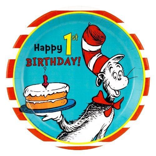Dr. Seuss Speiseteller zum 1. Geburtstag, 24 Stück