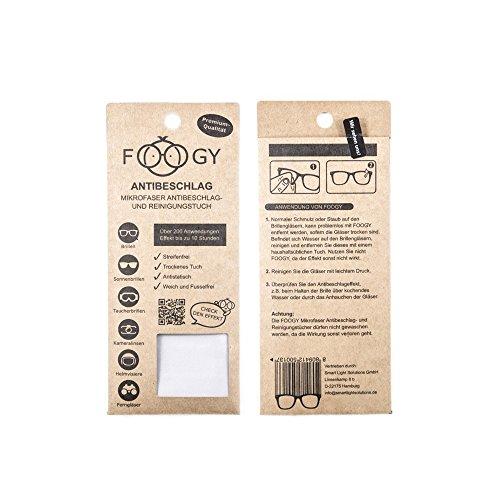 FOOGY Antibeschlagtuch, trockenes mikrofaser antibeschlag Reinigungstuch, keine zusätzlichen Flüssigkeiten notwendig
