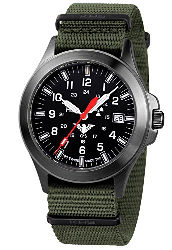 KHS Tactical Mens Watch Black Platoon Titan KHS.BPT.NO