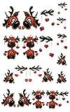 Weihnachten Rentier Rudolph Nail Art Nail Tattoo Nagelsticker - 00216