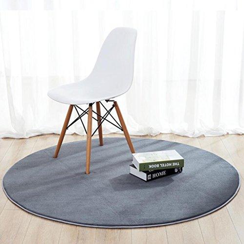 LINGZHIGAN Ronde Carpet Chambre Salon Chevet Suspendu Panier Chaise D'ordinateur Tapis De Sol Gris (taille : Diameter 100 cm)