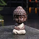 JETTINGBUY Estatua de Buda pequeña, figura india decorativa de...