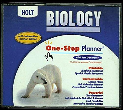 One Stop Planner Holt Biology 2004