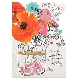 Hallmark Geburtstagskarte für Tante,Very Special, englischer Text– mittelgroß, M