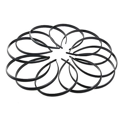 Tinksky Kunststoff DIY Haarreif Haarband Stirnband Haarschmuck Für Frauen-Mädchen-12St