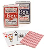 Mazzo di carte Bee Jumbo index (US Playing Card Company) [importato dalla Francia]